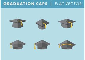 Graduation Caps Vector Free