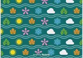 Four Seasons Seamless Vector Pattern