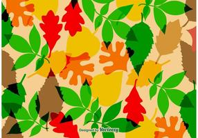Textura do vetor das folhas outonais