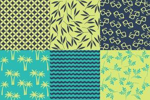 Spring and Summer Beach Pattern Vectors