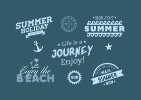 Beach Summer Adventure Vector Labels