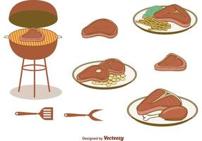 Gratis T Bone Steak Vectors