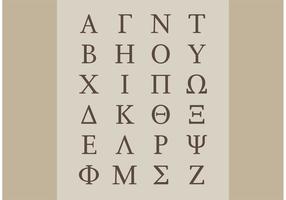 Vectores griegos del alfabeto