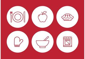 Apple Pie Vector Icon Set