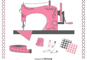 Gratis Vector Naaien Items Set