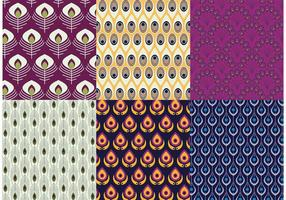 Peacock Patterns Vector Pack