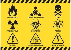 Prevención y precaución signos vectoriales