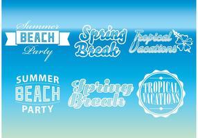 Logos vectoriels de vacances