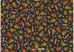 Rainy Fall Vector Pattern