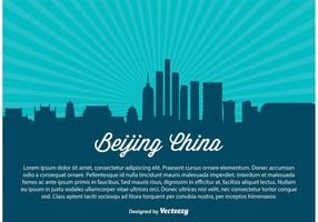 Beijing china skyline illustration
