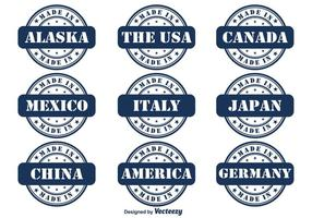 Gjord i Country Vector Badge Set