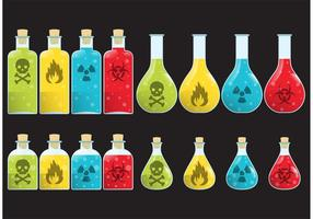 Vectores de la botella del veneno