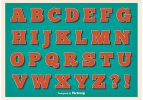 Weinlese-Art-Alphabet