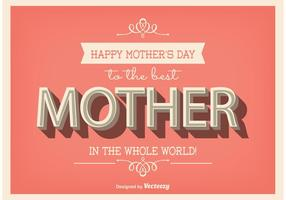 Typographic Mother's Day Poster vector