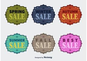 Fyra säsonger Vector Sale Badges