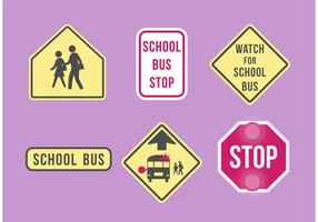 School bus signage set