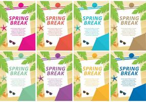 Spring Break Vector Vorlagen