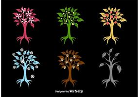 Seasonal Tree Silhouettes