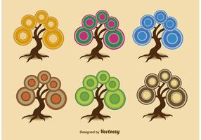 Árvores sazonais abstratas