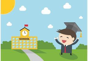 Graduate Boy Vector kostenlos