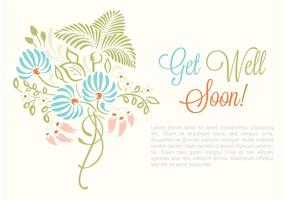 Free Vector Get Well Soon Card