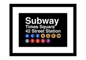Freie Times Square U-Bahn Zeichen Vektor