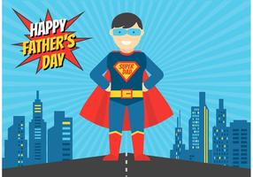 Gratis Superhero Dad Vector Illustration