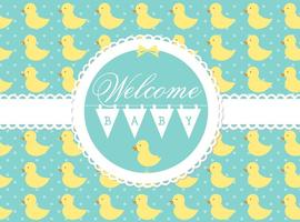 Vector Welcome Baby Card