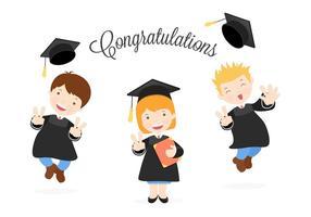 Libre Feliz Graduados Vector