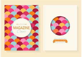 Kostenlose Retro Magazin Vector Covers