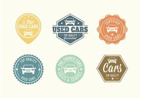 Badges vectoriels d'autos d'occasion gratuits