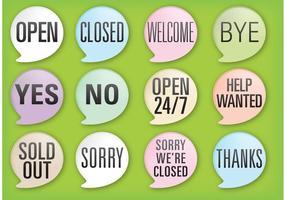 Vetores de bolha da fala da mensagem