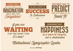 Étiquettes de devis typographiques