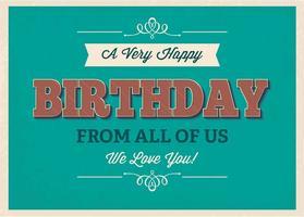 Cartel tipográfico del cumpleaños impresiones