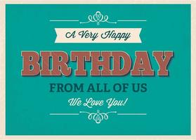 Cartaz tipográfico do aniversário