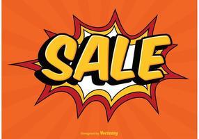 Comic Style Sale Illustration