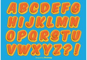 Comic-Stil Alphabet
