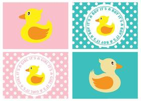 Cute Baby Labels vector