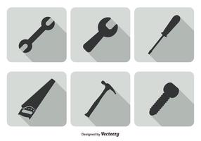 Trendy tool icon set
