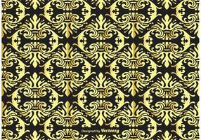 Gold and Black Damask Background