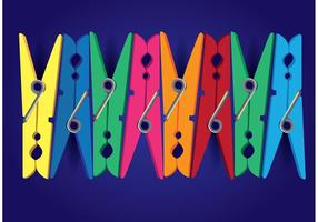 Clothespin Colorful Vector