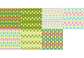 Spring Pattern Vector Set