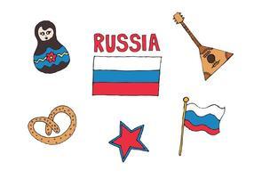 Serie libre del vector de Rusia