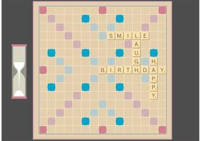 Scrabble Board Free Vector