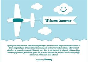 Bienvenue Summer Illustration