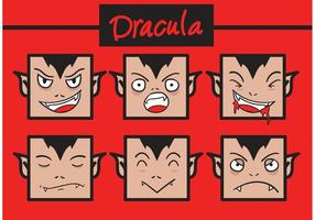 Funny Dracula vector faces