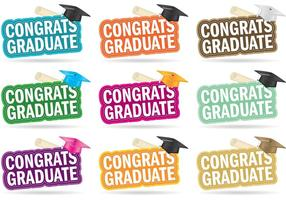 Vecteurs diplômés de félicitations