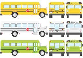 Vectores de autobuses escolares