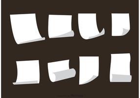White Paper Sets Vectors
