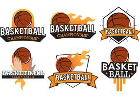 Vecteurs de badges de basket-ball